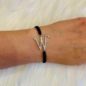 W adjustable braid bracelet
